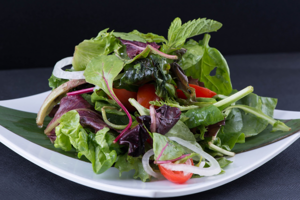 Eat at least one raw vegetable and herb salad every day, either as a main course or as a side dish.
